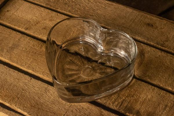 #6 Heart Glass Dish